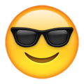 Smiley Face with Sunglasses Emoji